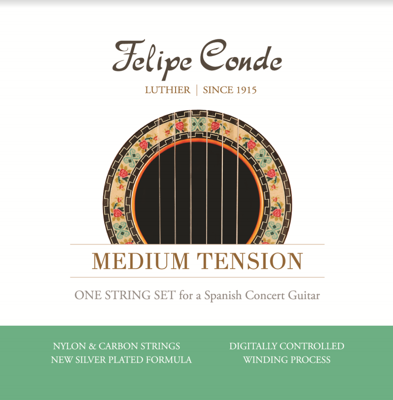 Felipe Conde Medium Tension Strings- Carbon