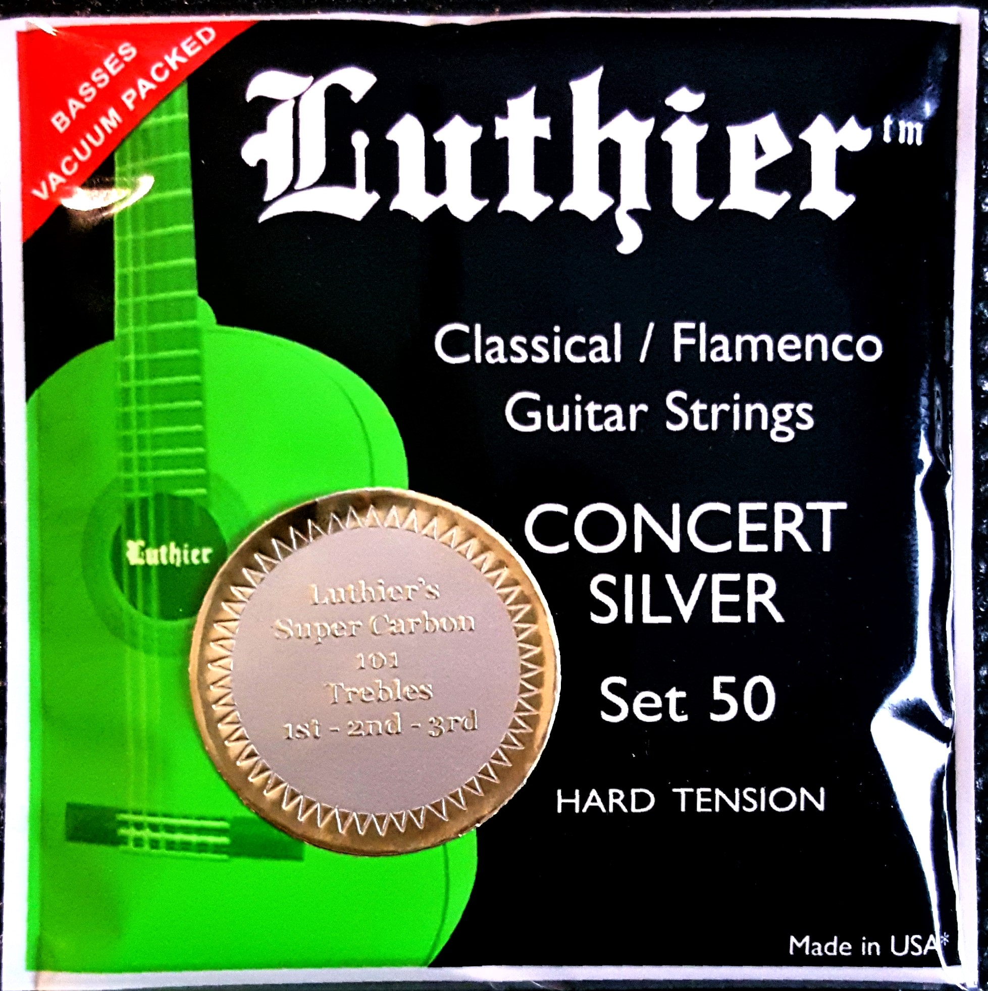 Luthier Classical/Flamenco Hard Tension Strings- Carbon Trebles