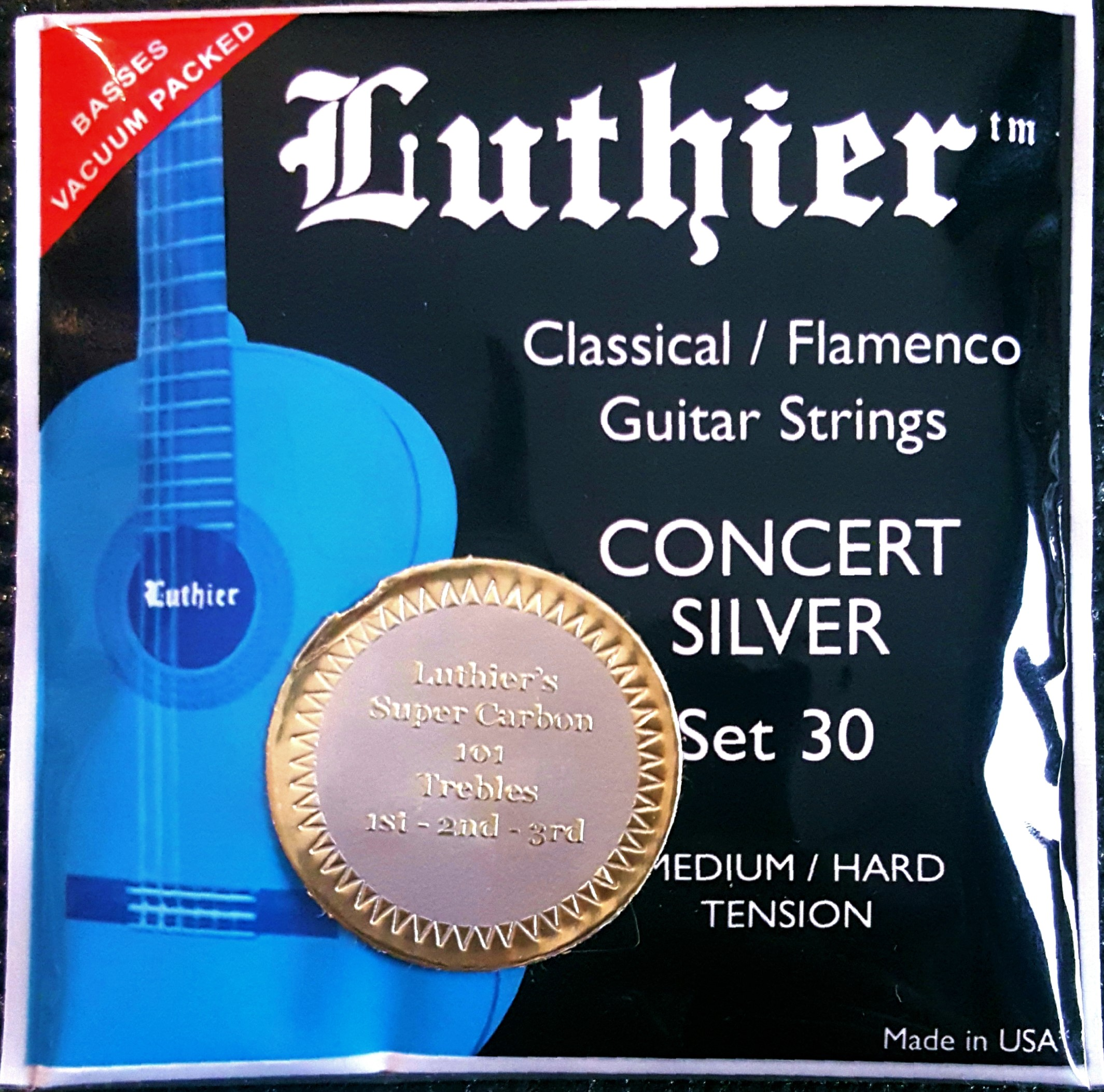 Luthier Classical/Flamenco Medium-Hard Tension Strings- Carbon Trebles