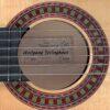 Wolfgang Jellinghaus Flamenco Blanca Guitar Label